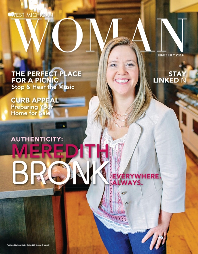 Meredith Bronk in West Michigan Woman Magazine